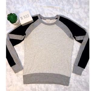 J.Crew Color Block Sweatshirt